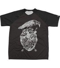 camiseta chess clothing estampa heart preto