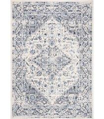 "safavieh harbor blue and creme 5'3"" x 7'6"" sisal weave area rug"