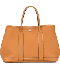 hermès 2018 pre-owned garden party tpm tote bag - brown