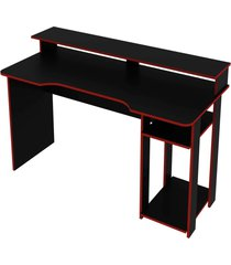 mesa gamer preto/vermelho tecno mobili