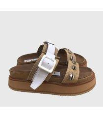 sandalia marron chenzi maui