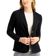 charter club two-button blazer, created for macy's