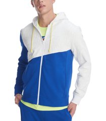 tommy hilfiger men's wayne colorblock full-zip hoodie