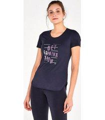 t-shirt alto giro skin fit frases inspiracionais preto 2111734 preto