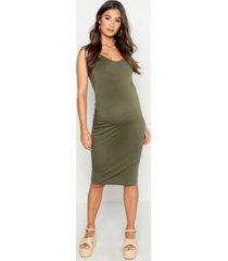 maternity bodycon dress, khaki