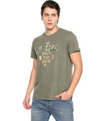camiseta hombre verde rachid estampada cold 700 team