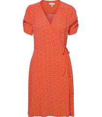 byflaminia wrap dress - knälång klänning rosa b.young