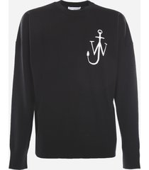 j.w. anderson merino wool sweater with contrasting logo embroidery