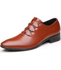 scarpe da uomo in pelle microfibra con punta a punta