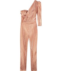 elisabetta franchi celyn b. draped one-sleeve jumpsuit
