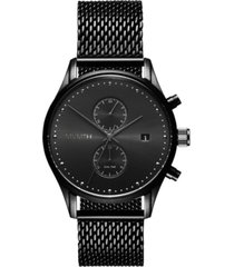 mvmt men's voyager black stainless steel mesh watch 42mm