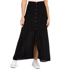be bop juniors' button-front maxi skirt