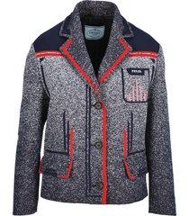 prada prada technical mouliné jacquard jacket