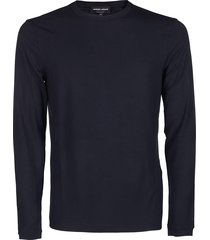 giorgio armani blue viscose blend sweatshirt