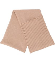 dorothee schumacher deconstructed ribbed scarf - neutrals
