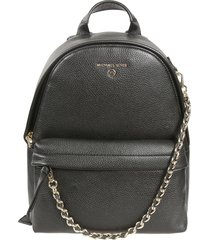 michael kors logo detail chain backpack