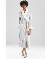 natori sherpa two-tone sleep/lounge/bath wrap/robe, women's, beige, size xs natori