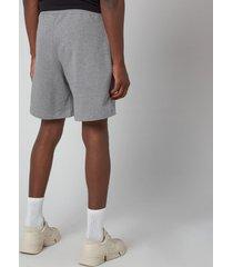kenzo men's tiger crest classic shorts - dove grey - xl