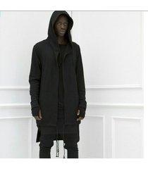 chaqueta con capucha manga larga camiseta manto largo cardigan outwear casual abrigo suelto