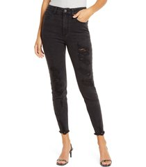 women's tinsel distressed skinny jeans