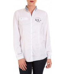 polo shirt lange mouw tom tailor nice solid polo blouse blanc