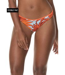 traje de baño pantie azul-naranja maaji swimwear flirt thin side