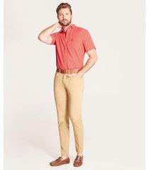 camisa mini print contraste