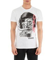 men's short sleeve t-shirt crew neckline jumper graffiti