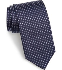 men's david donahue geometric dot silk tie