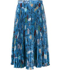 ports 1961 pleated midi skirt - blue