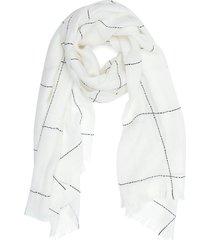 reiss kimmy - wool blend scarf in white/black, womens