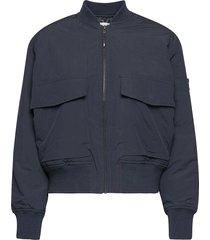 athene compact nylon jacket bomberjacka blå wood wood