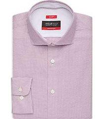 awearness kenneth cole awear-tech berry micro check slim fit dress shirt