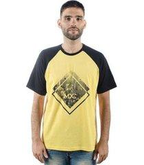 camiseta mxc brasil losango raglan - masculino
