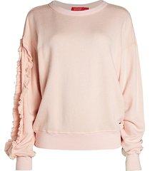 n:philanthropy women's lulu ruffle-sleeve sweatshirt - blossom - size l