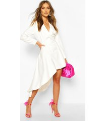 boohoo occasion double breasted blazer dress, ivory