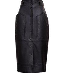 alberta ferretti leather pencil skirt
