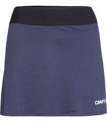 squad skirt w kort kjol blå craft