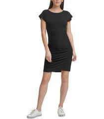 dkny cap-sleeve sheath dress