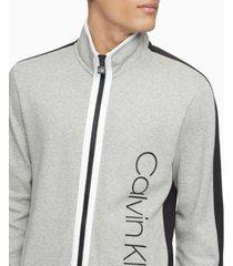 calvin klein men's athleisure regular-fit colorblocked full-zip sweatshirt