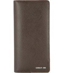 cerruti 1881 vertical bifold wallet - brown