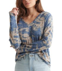 lucky brand hacci v-neck top