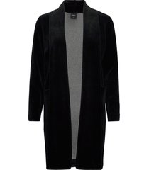 ladies dressing gown, vivia morgonrock svart nanso