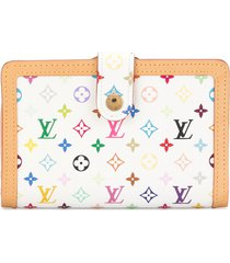 louis vuitton pre-owned monogram print leather wallet - white