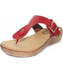 sandalia confort rojo burana 965-026