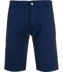 daniele alessandrini slim chino shorts - blue