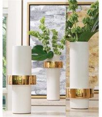 global views gold ring vase high