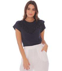 camiseta con detalles en boleros para mujer 100339-01