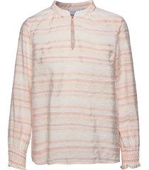 blouse w. smock cuffs blus långärmad rosa coster copenhagen