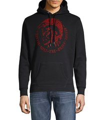 drawcord graphic hoodie